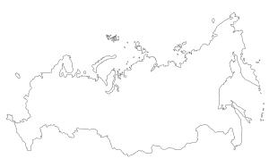 Carte Russie vierge