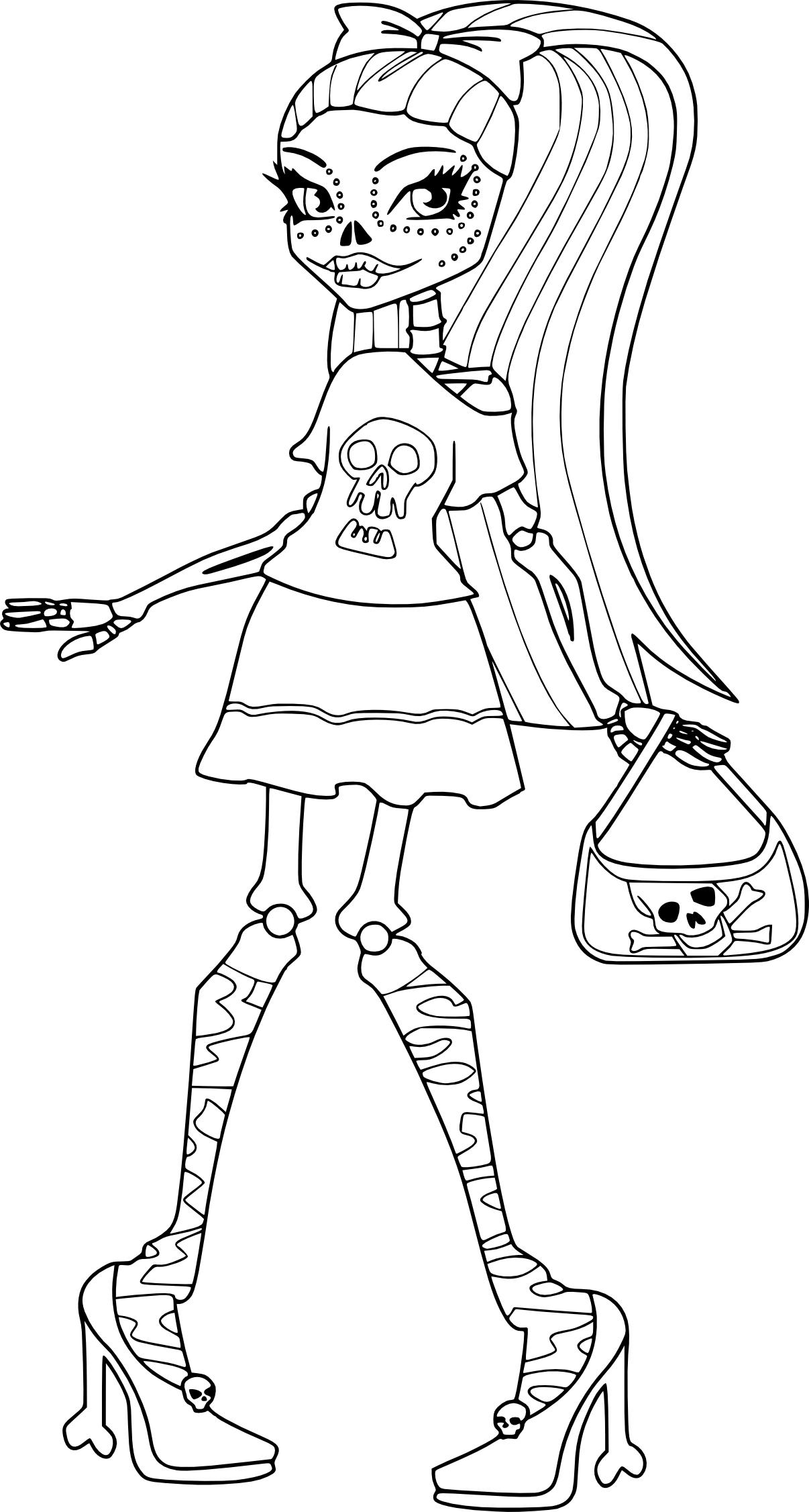 Coloriage Skelita Monster High à imprimer et colorier