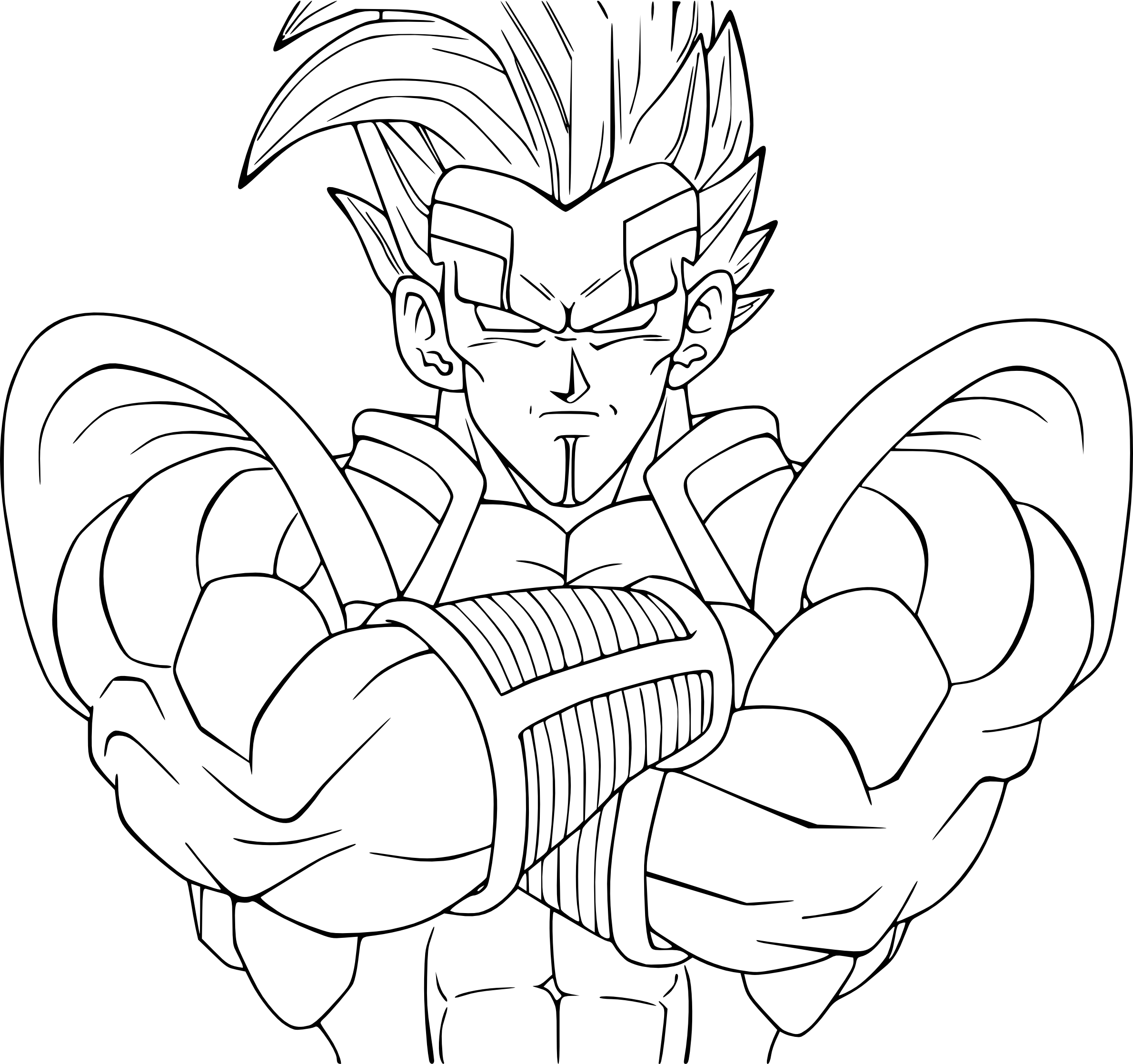 Coloriage baby vegeta db gt imprimer et colorier - Dessin de dragon ball super ...