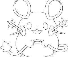 Coloriage Dedenne Pokemon