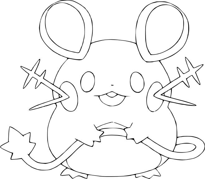 Coloriage Dedenne Pokemon