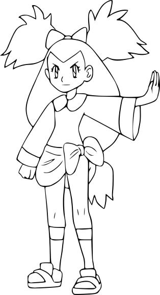 Coloriage Iris Pokemon
