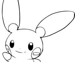 Coloriage Negapi Pokemon