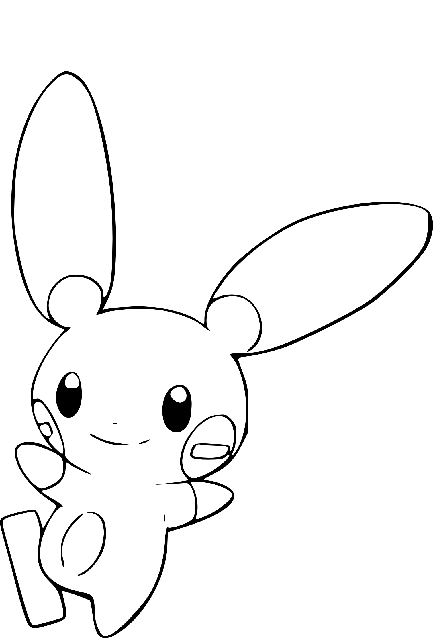 Coloriage Negapi Pokemon Gratuit A Imprimer