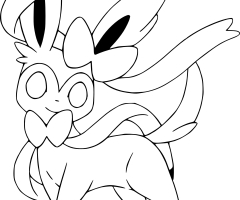 Coloriage Nymphali Pokemon