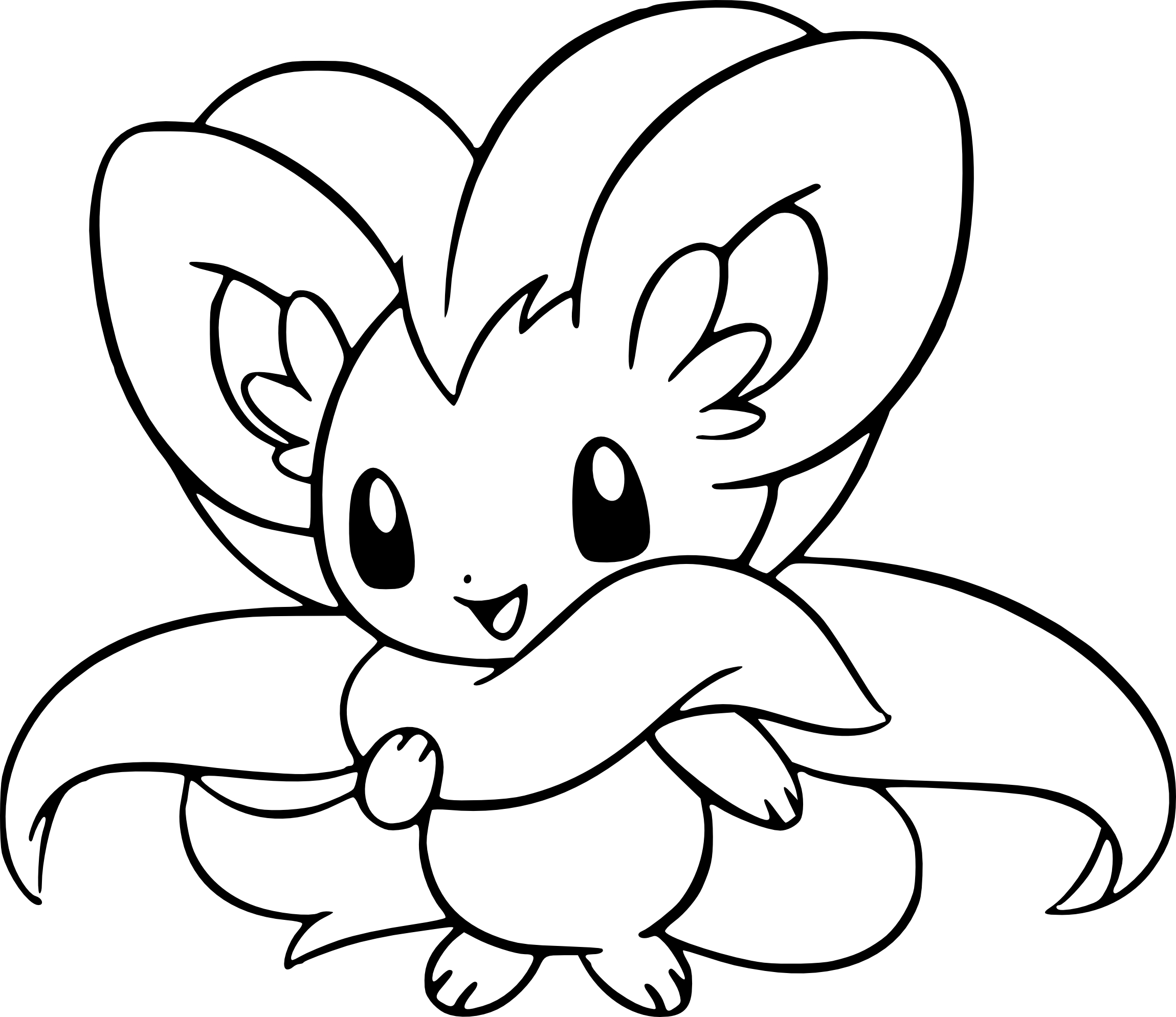 Coloriage Pashmilla Pokemon à Imprimer Et Colorier
