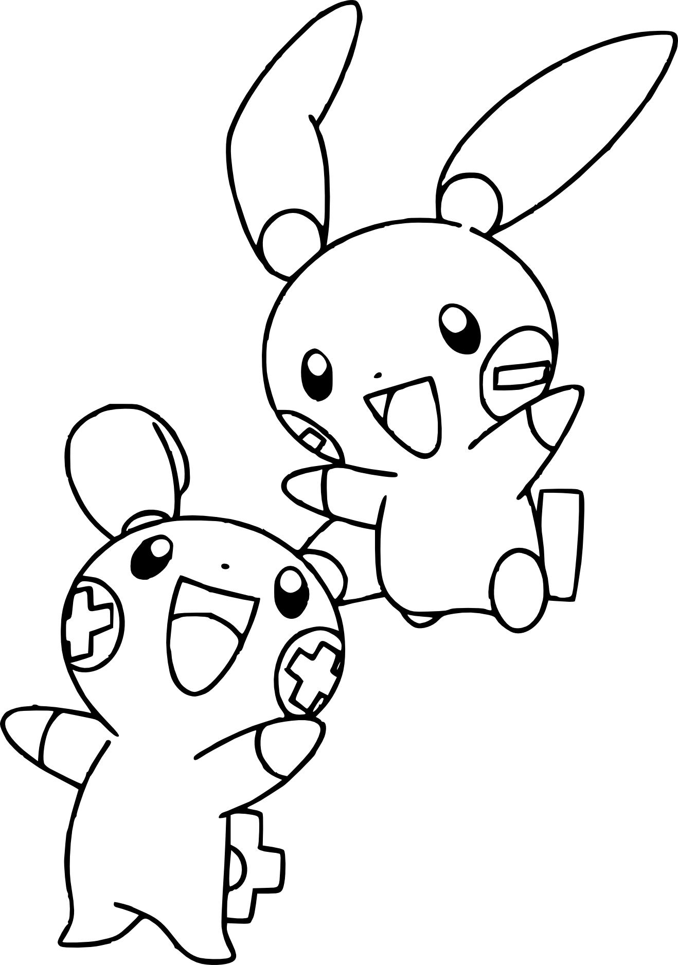Coloriage Posipi Pokemon gratuit à imprimer