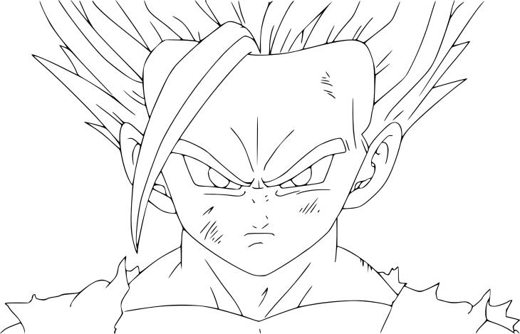 Coloriage sangohan ado super sayen 2 imprimer - Dessin manga dragon ball z ...