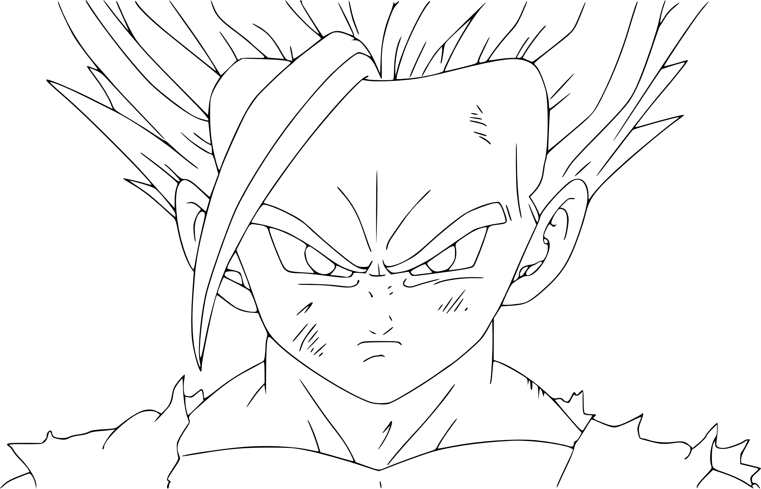 Coloriage sangohan ado super sayen 2 imprimer - Dessin de dragon ball super ...