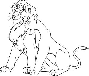 Coloriage Simba Nala