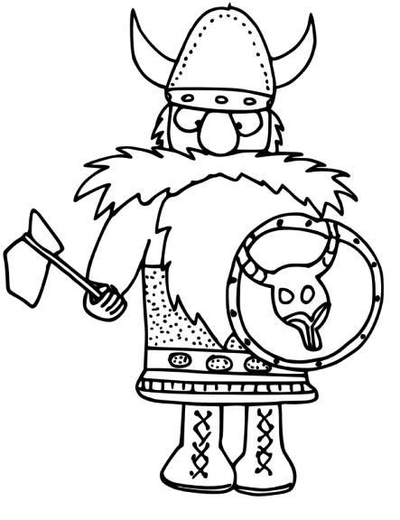 Coloriage Viking