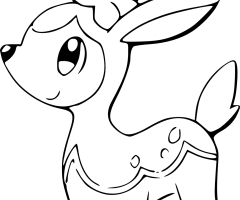 Coloriage Vivaldaim Pokemon