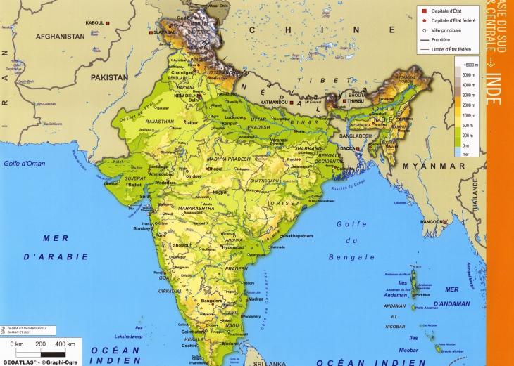 Grande carte Inde