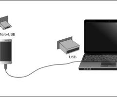 Smartphone vers ordinateur portable