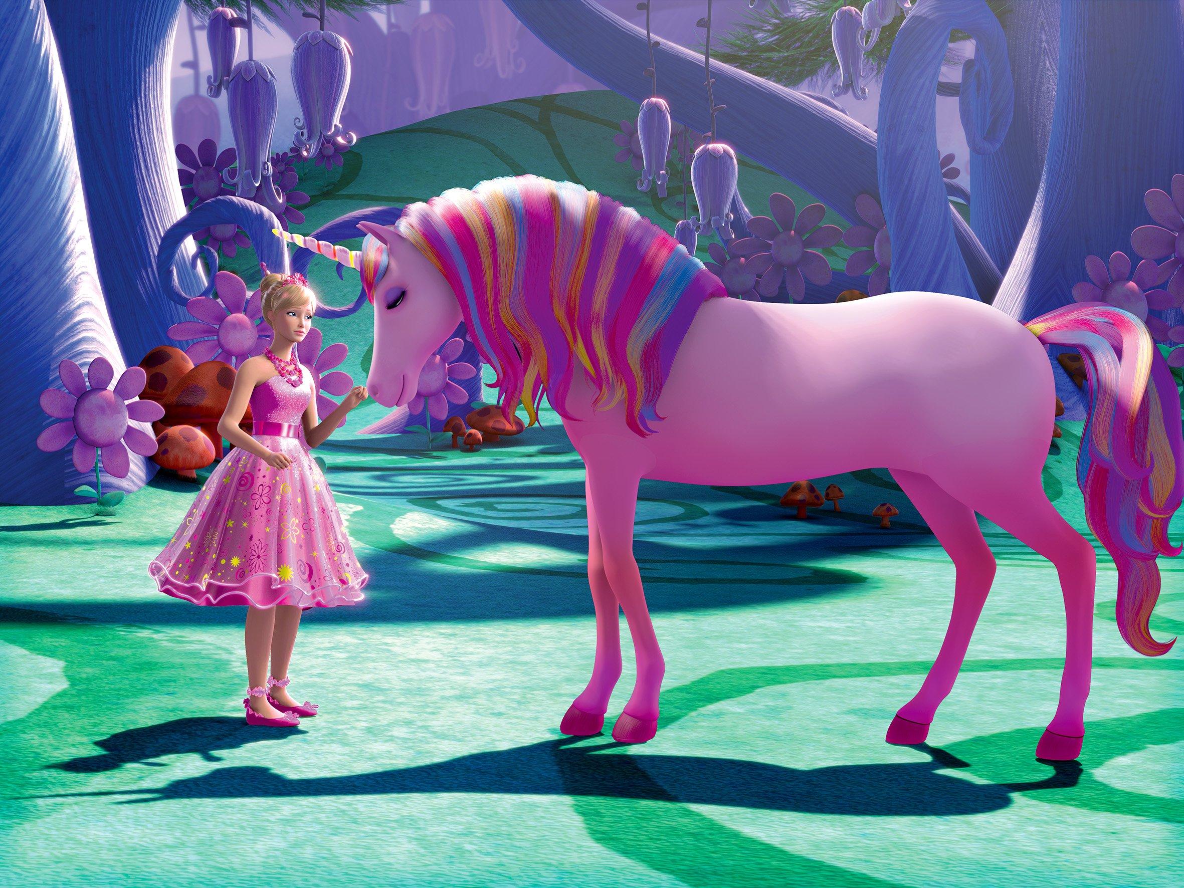 Coloriage licorne barbie imprimer et colorier - Barbie et la licorne ...