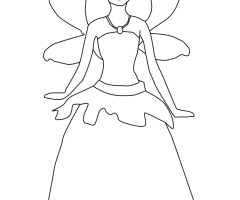 Barbie Mariposa coloriage