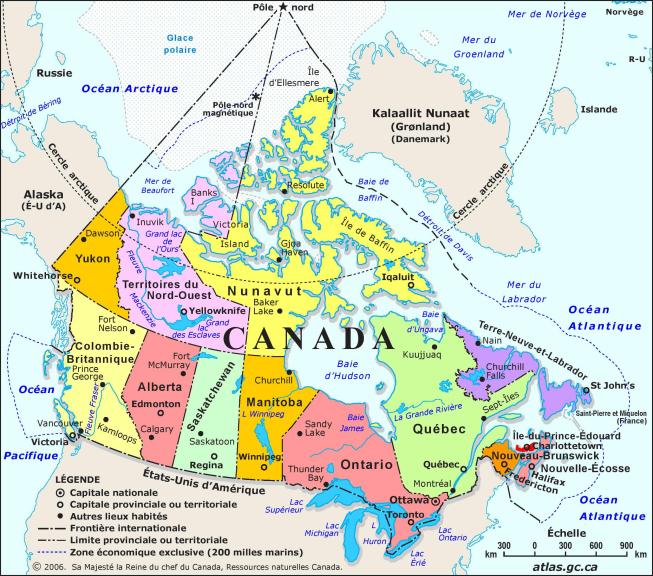 Canada carte
