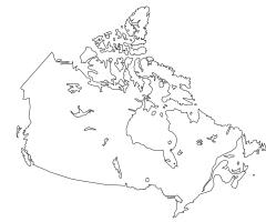 Carte Canada vierge