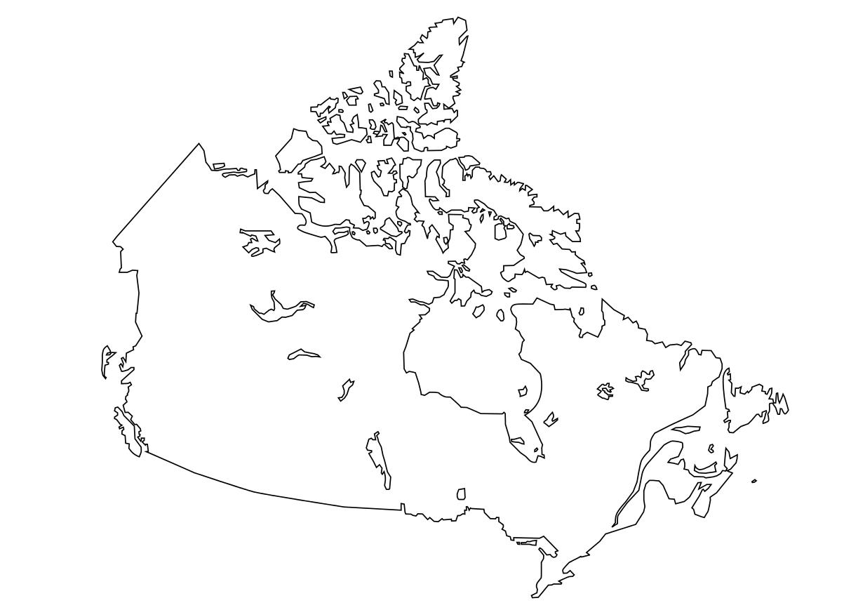 Carte Canada Vierge Imprimer.Carte Du Canada A Completer