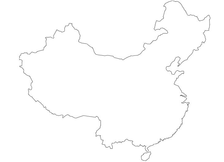 Carte de chine imprimer et compl ter - Coloriage de chine ...