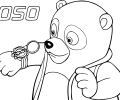 Coloriage agent Oso