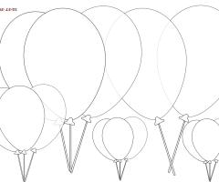 Coloriage ballon anniversaire