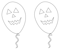 Coloriage ballon Halloween