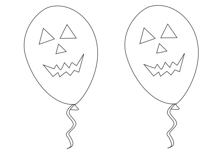 Coloriage ballon Halloween
