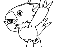 Coloriage Biyomon