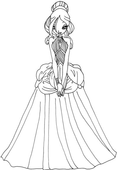 Coloriage princesse daphn winx imprimer et colorier - Dessin anime des winx club ...