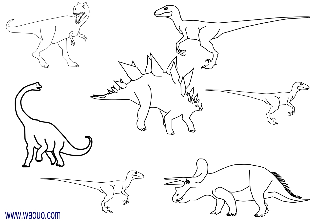 Coloriage dinosaures gratuit imprimer et colorier - Coloriage de dinosaures ...