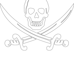 Coloriage drapeau de pirate
