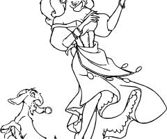 Coloriage Esmeralda Djali