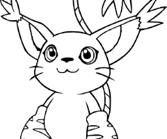 Coloriage Gatomon