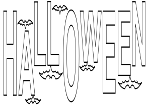 Coloriage Halloween lettres