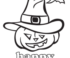 Coloriage Happy Halloween