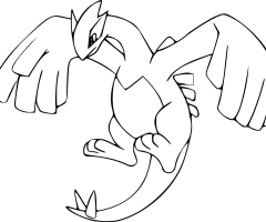 Coloriage Lugia Pokemon
