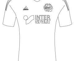 Coloriage maillot OM