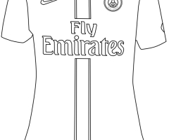 Coloriage maillot PSG