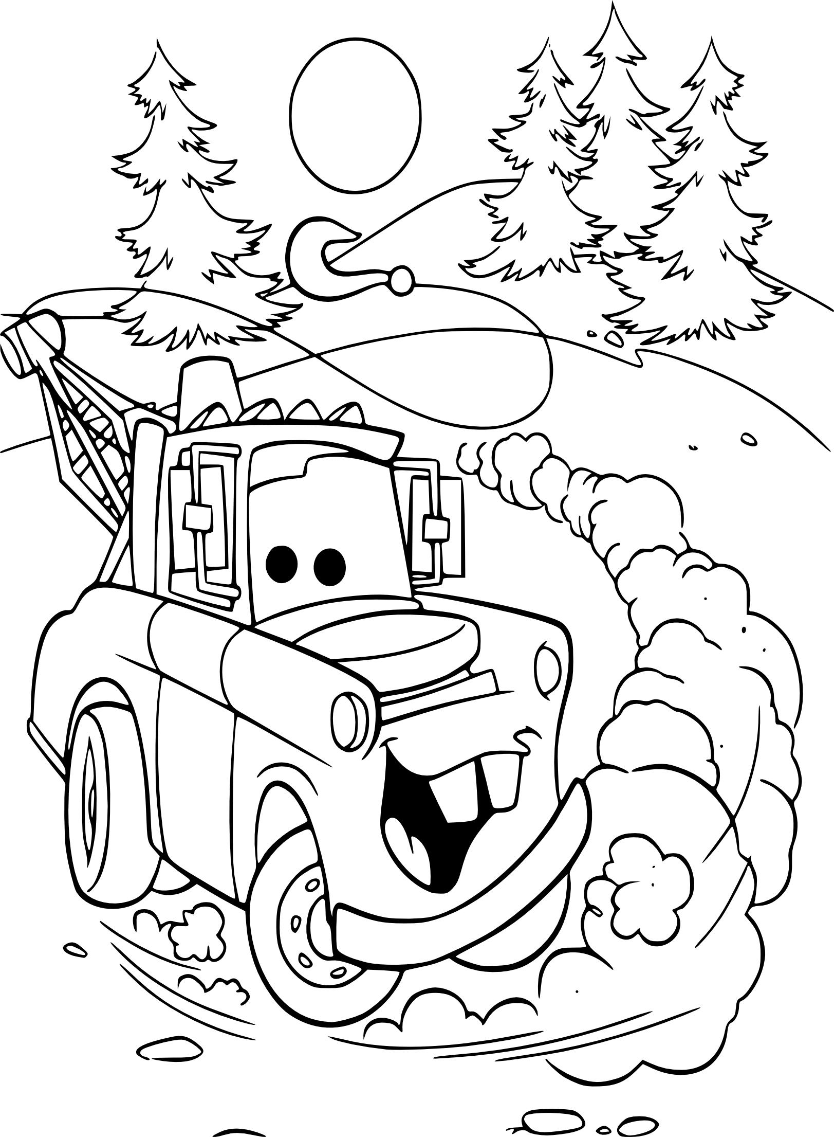 Coloriage Martin camion à imprimer et colorier
