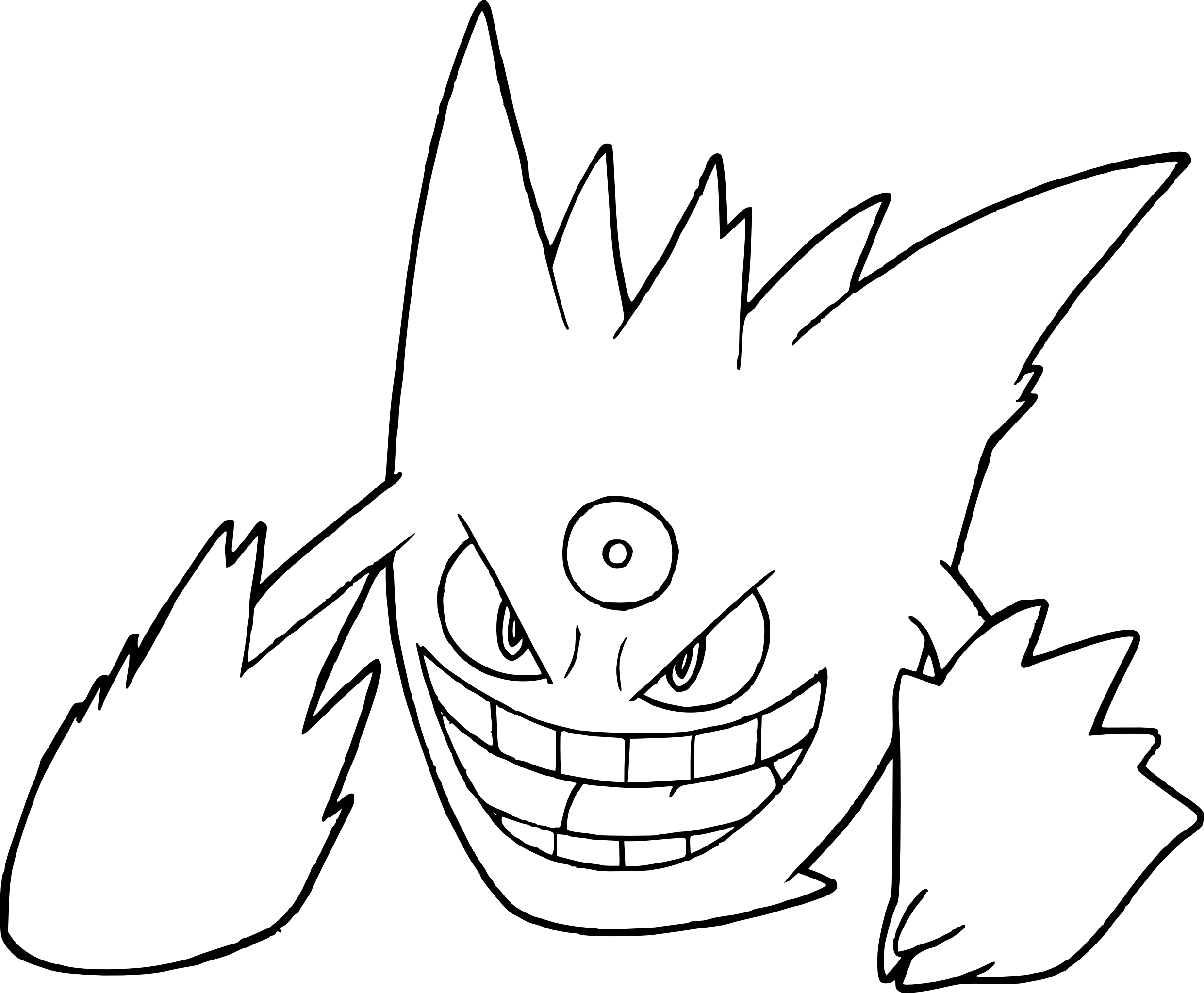 Pokemon Mega Gengar Coloring Pages Coloring Pages