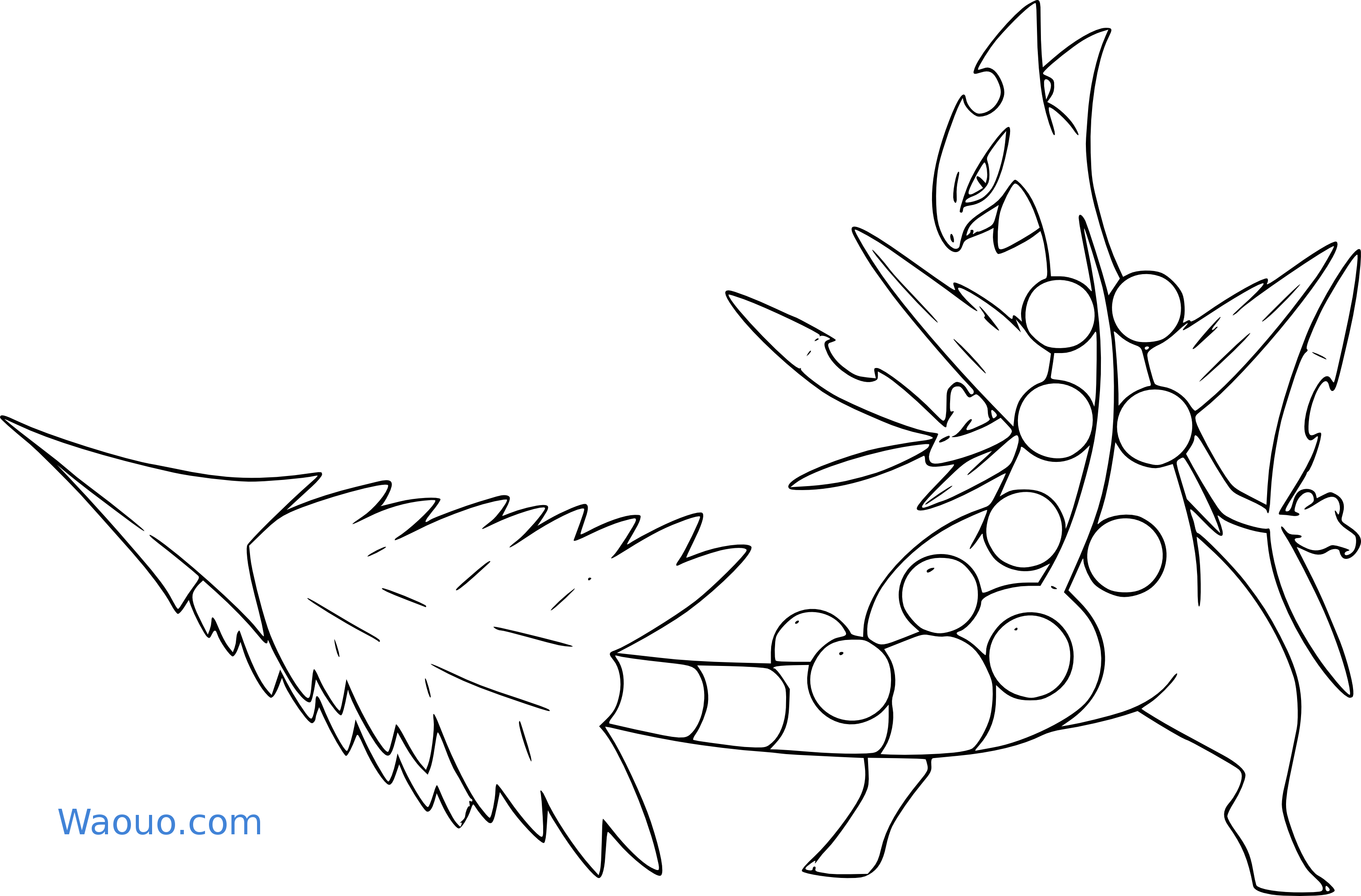 Jungko Coloriage Méga Jungko Pokemon à Imprimer
