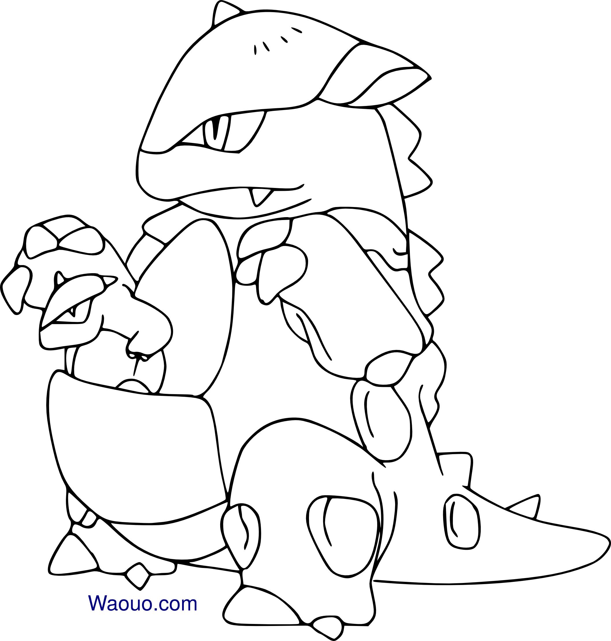 Coloriage m ga kangourex pokemon imprimer et colorier - Coloriages pokemon ...