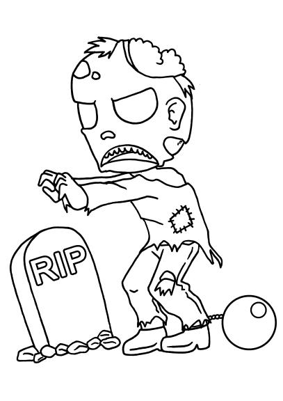 Coloriage mort vivant zombie imprimer et colorier - Coloriage zombie ...