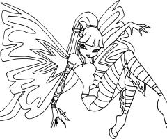 Coloriage Musa Sirenix