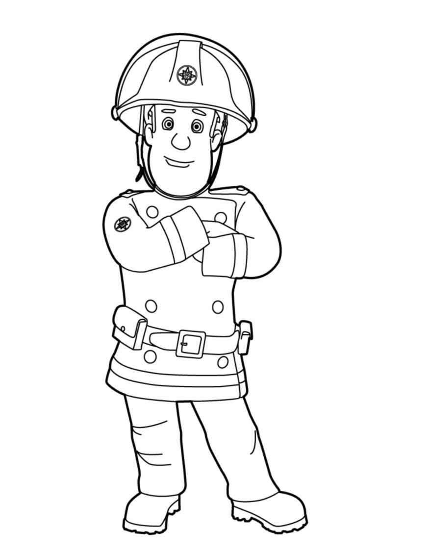 Coloriage Sam Le Pompier à Imprimer Et Colorier
