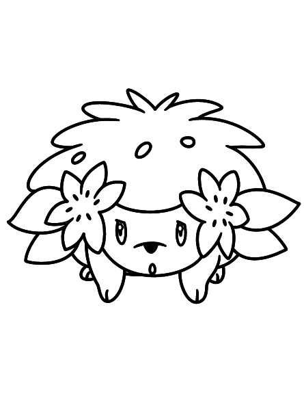 Coloriage Shaymin