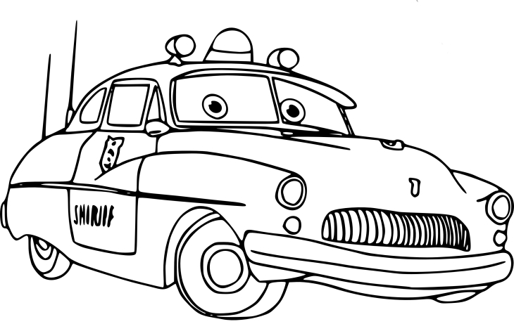Coloriage Sheriff Cars