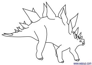 Coloriage Stegosaurus