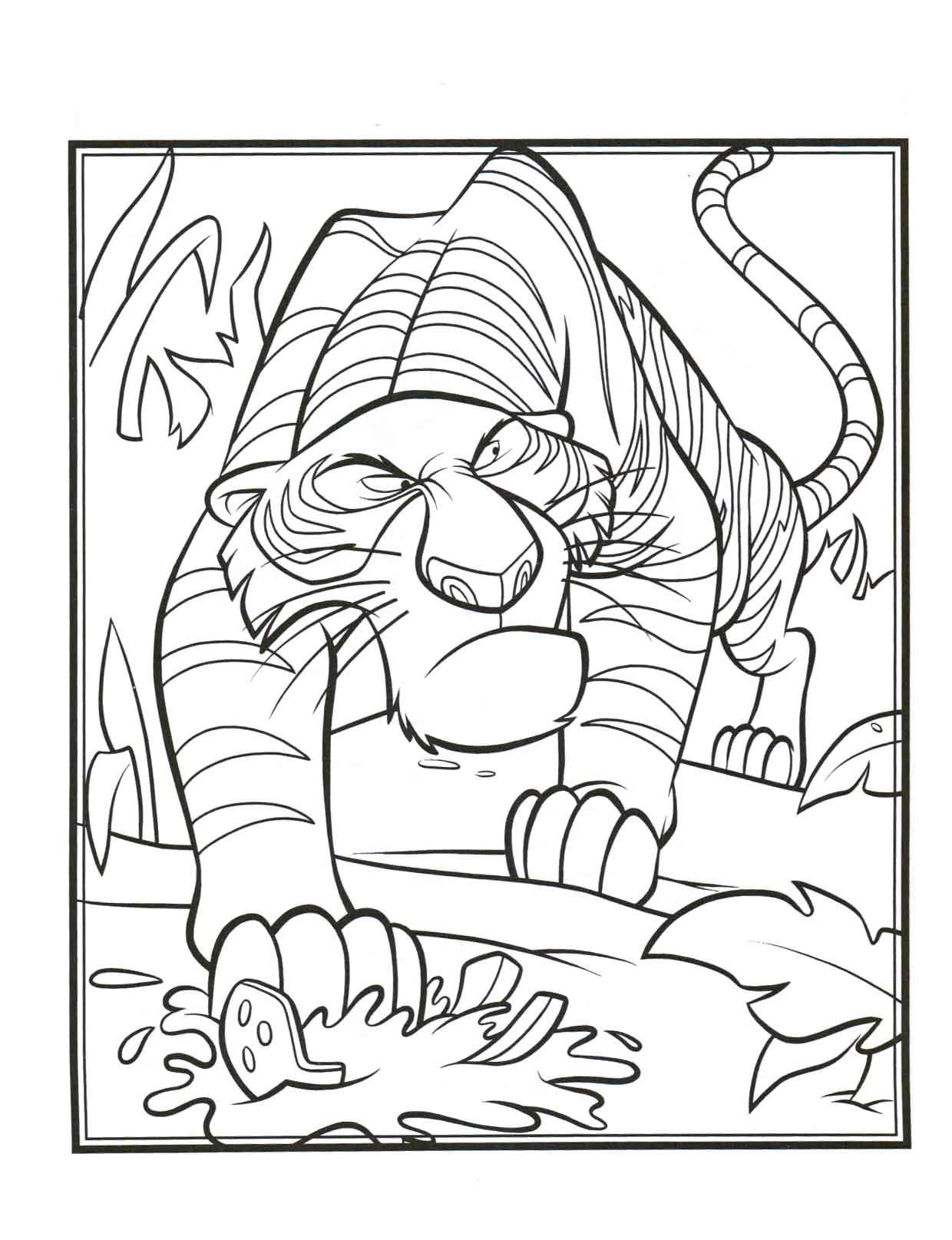 Coloriage shere khan livre de la jungle imprimer - Dessin livre de la jungle ...